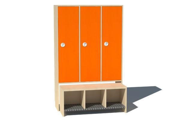 Garderoobikapp 3-ne Kessu täisuks oranzh metallrest