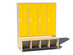 Garderoobikapp Kessu 4-ne täisuks kollane metallrest