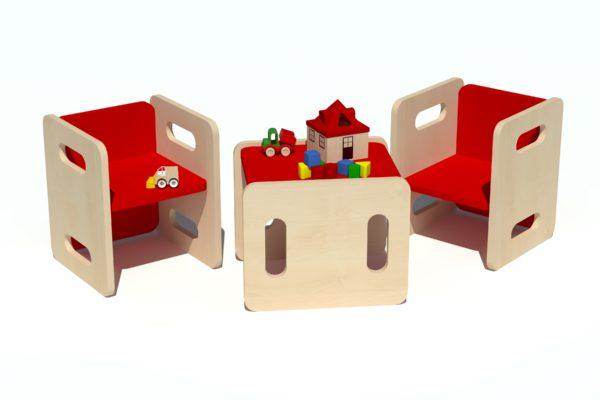 Laste tool-laud komplekt vineerist