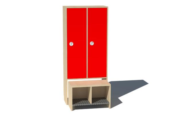 Garderoobikapp Kessu 2-ne täisuks punane metallrest