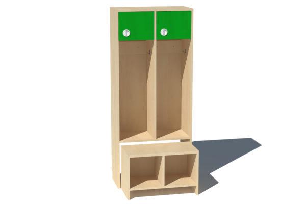 Garderoobikapp Kessu 2-ne lühike uks roheline melamiinplaat
