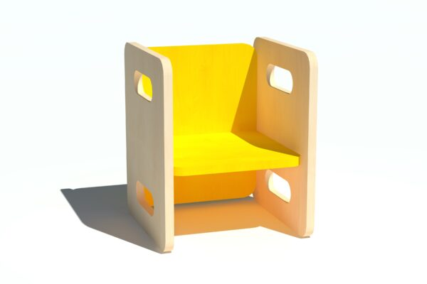 Laste tool-laud vineerist kollane