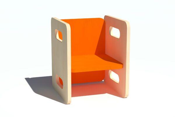 Laste tool-laud vineerist oranz