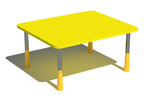 Ristkülik laste laud reguleeritavad lauajalad