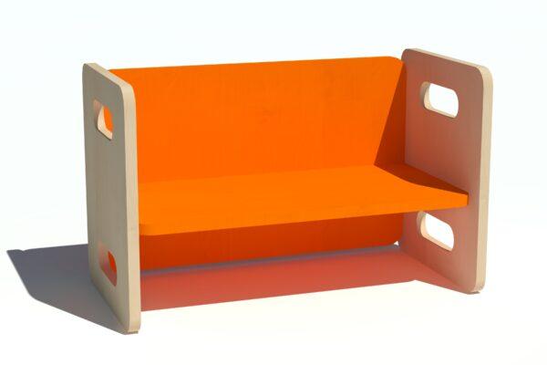 Laste pink-laud oranz vineerist